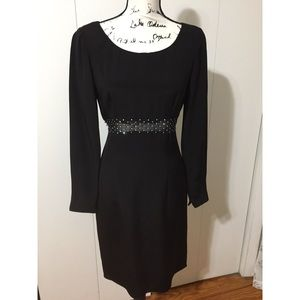 Vintage 1980's Black Chetta B Silk Dress - size 4